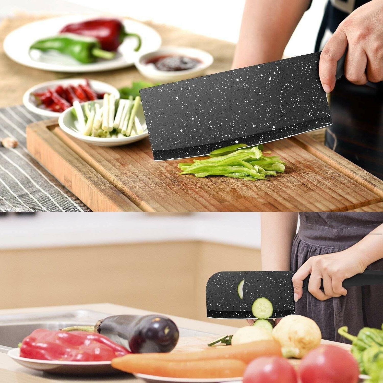 HOBO 17-Piece Knife Stainless Steel Set Block Profe