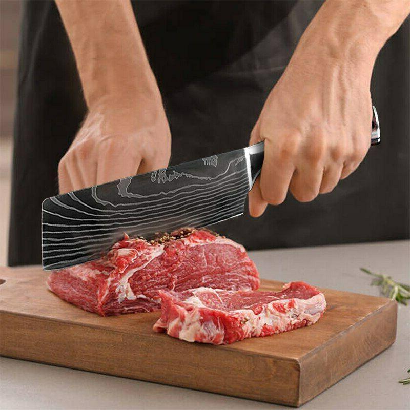 Japanese Kitchen Knife Damascus Carbon Steel