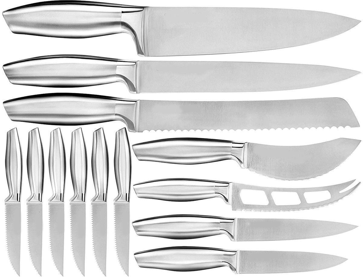 KITCHEN KNIFE SET 13 CUTLERY STEAK CHEESE KNIVES