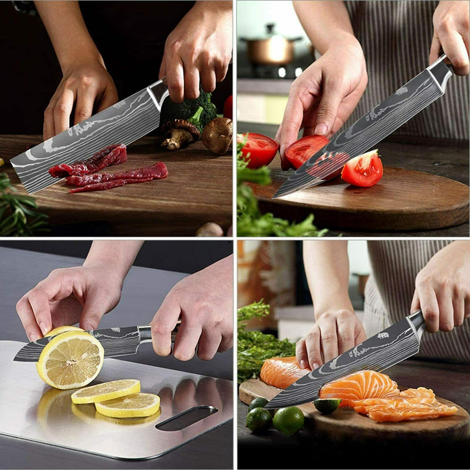 12 Knives Set Chef Knives Cooking Cutter