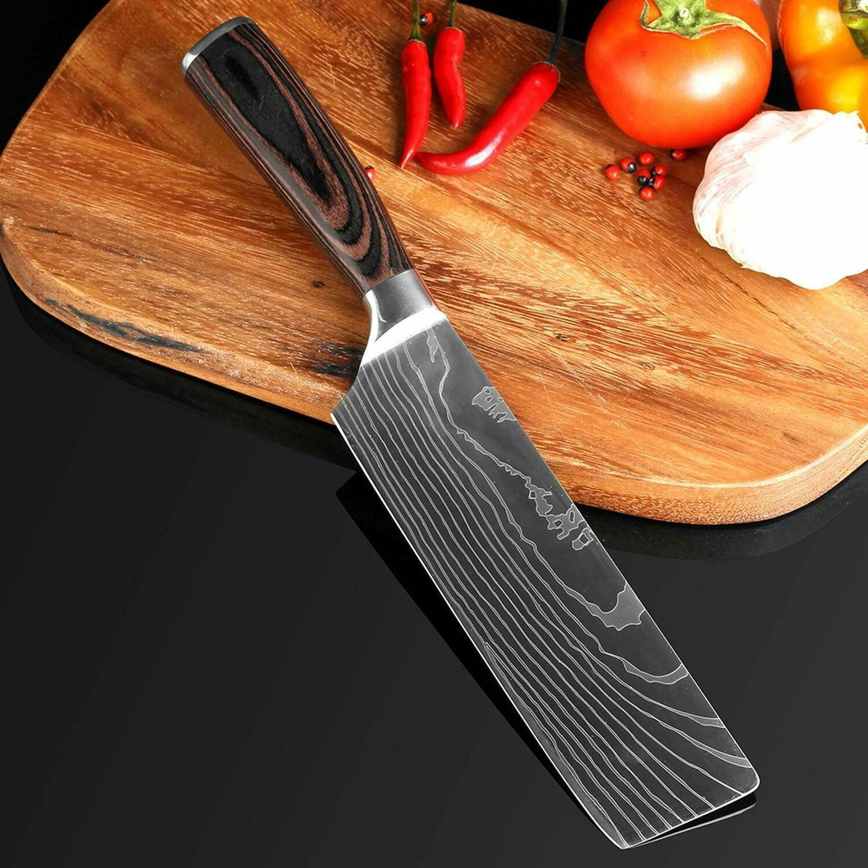 Kitchen Knives Set Carbon Professional