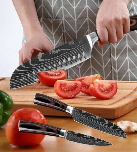 Kitchen Knives Set Damascus Stainless Knife 8Pcs