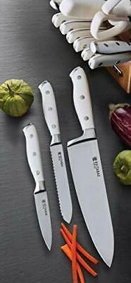 Kitchen 15-Piece Triple Cutlery White