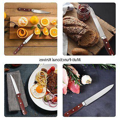 Homgeek Kitchen Kitchen Knife with Block