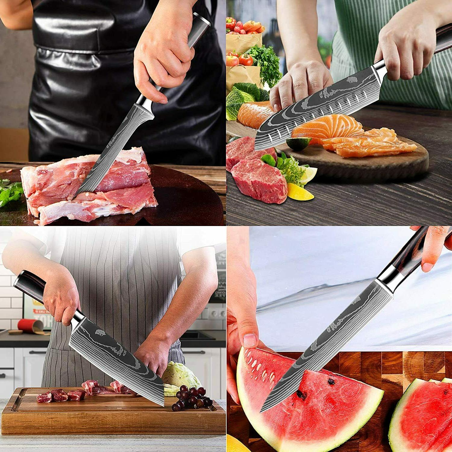 12 Professional Kitchen Knives +Accessories Set