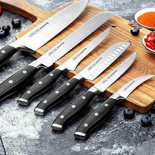 Kitchen Set Block Wooden Stainless Steel Knives