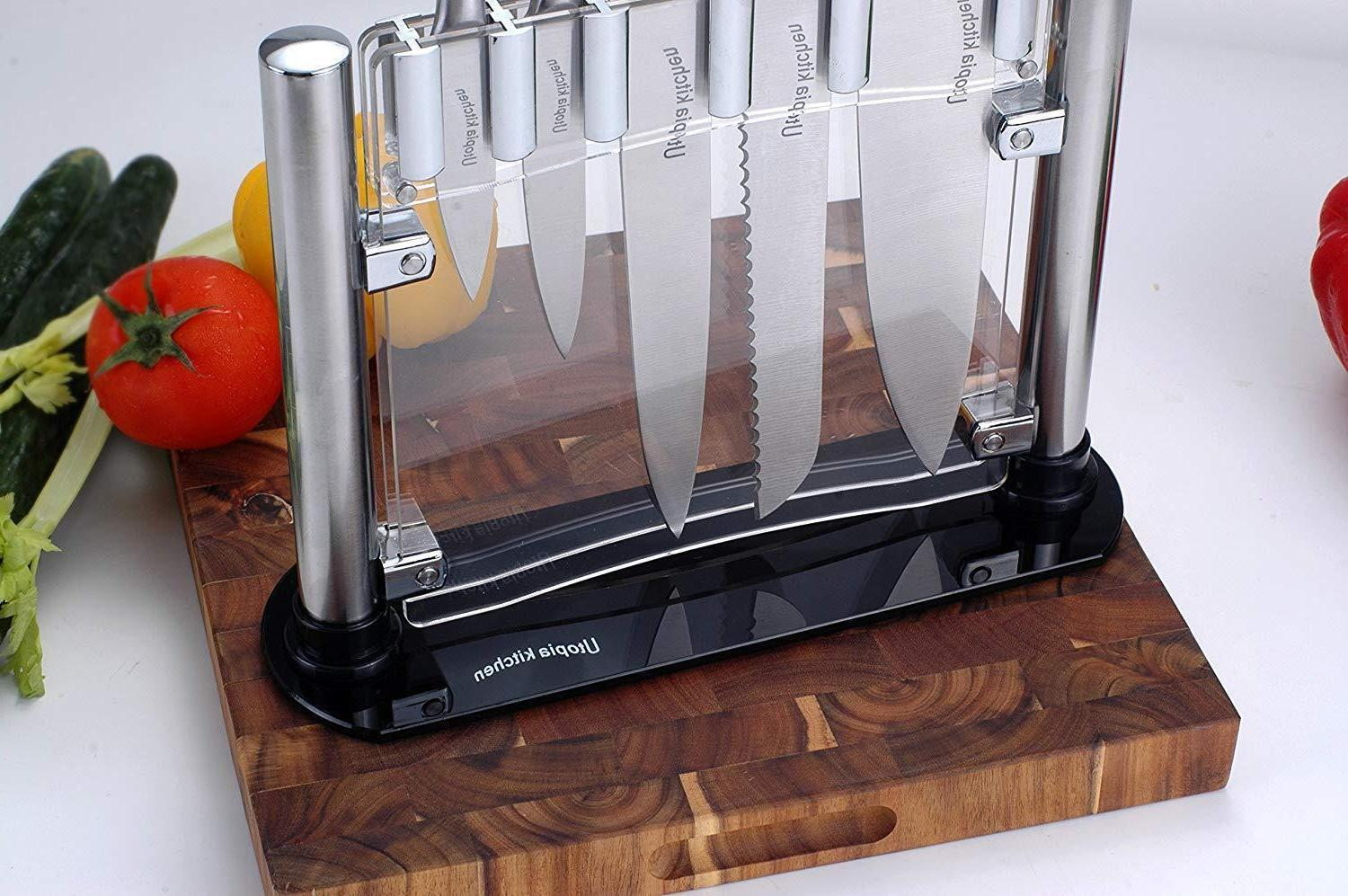 Kitchen Knife Cutlery Acrylic Clear Stand