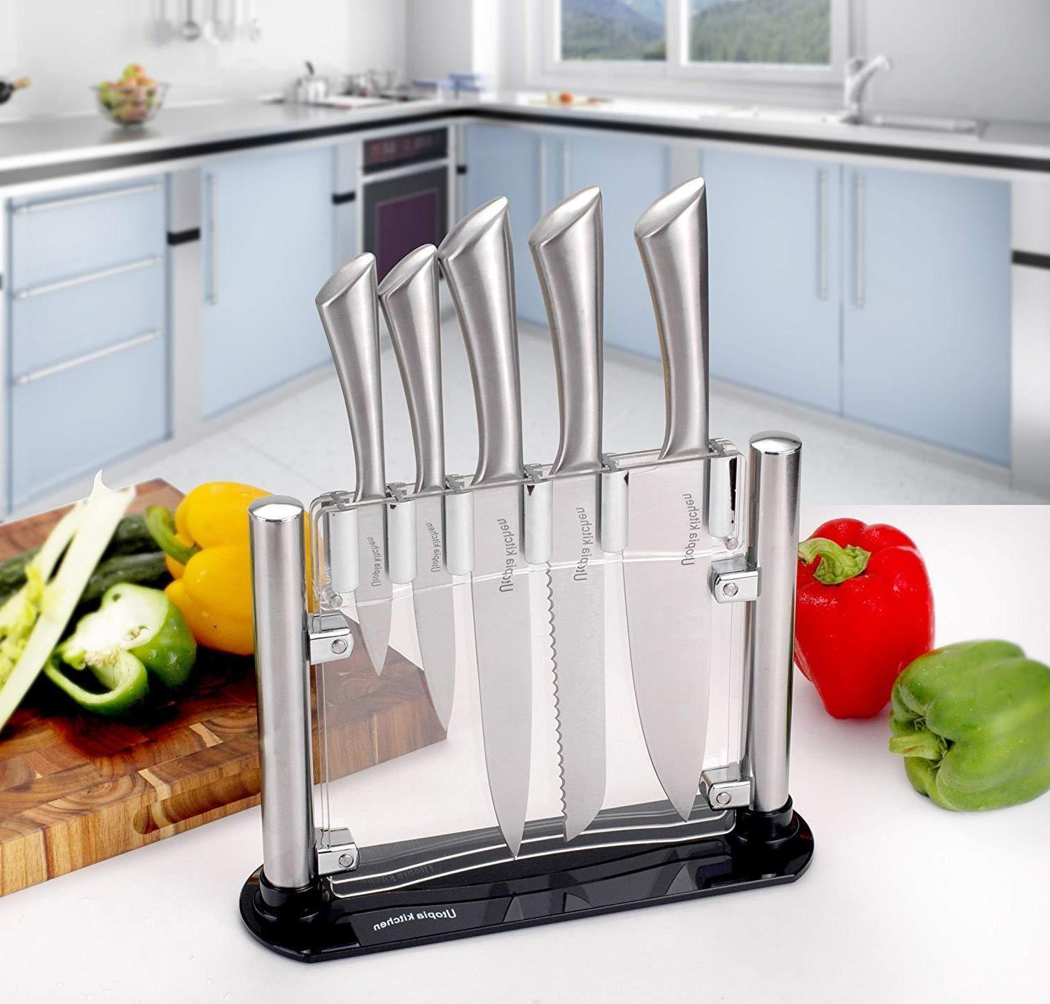 kitchen ware knife block cutlery acrylic clear