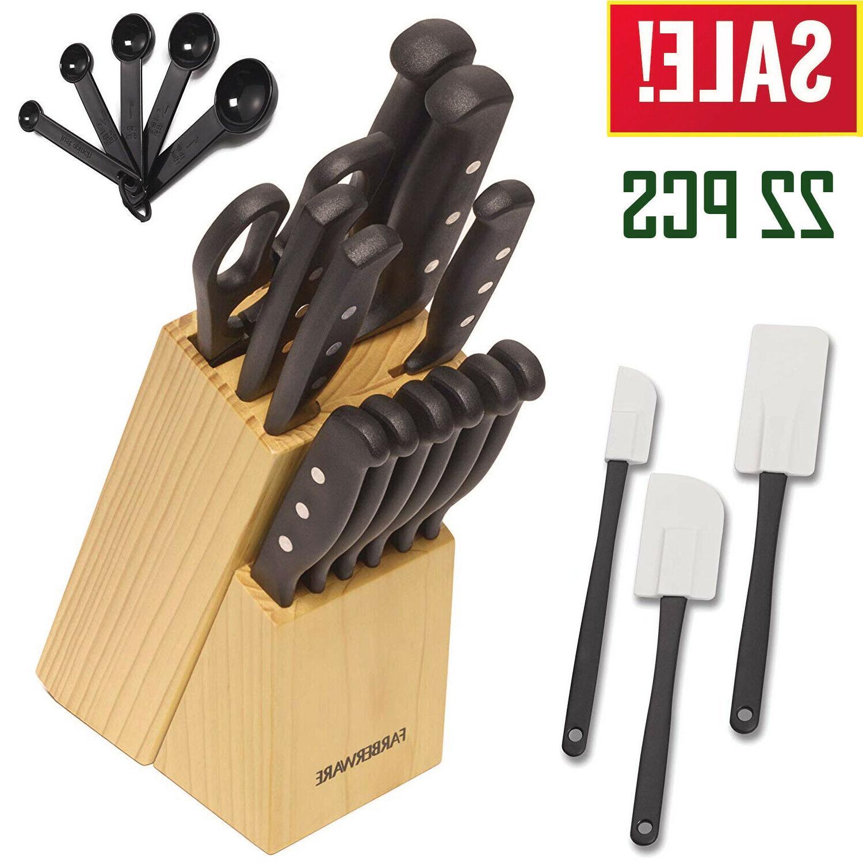 Knife Block Set Kitchen Sharpening Stainless Steel Chef Stea