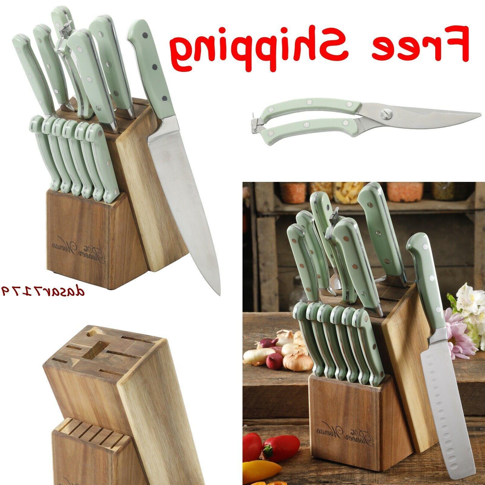 knife set 14 piece kitchen knife set