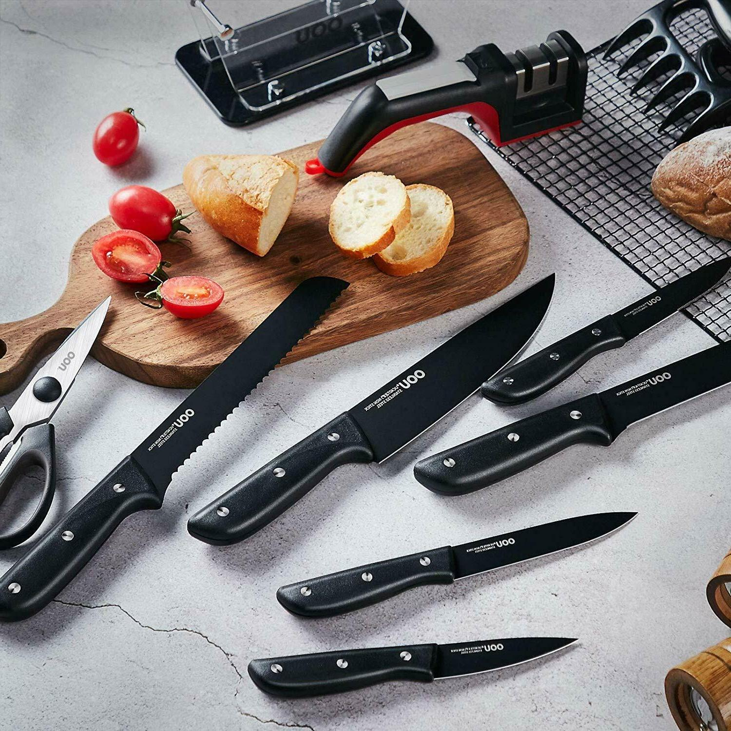 Knife Set Kitchen Knives Set with Clear Block, Stainless Chef Knife S