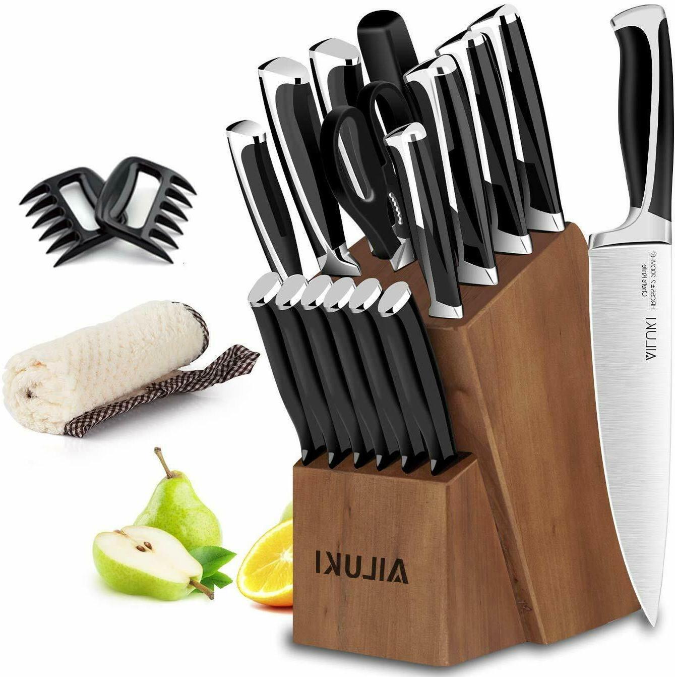 knife set 19 piece kitchen knife set