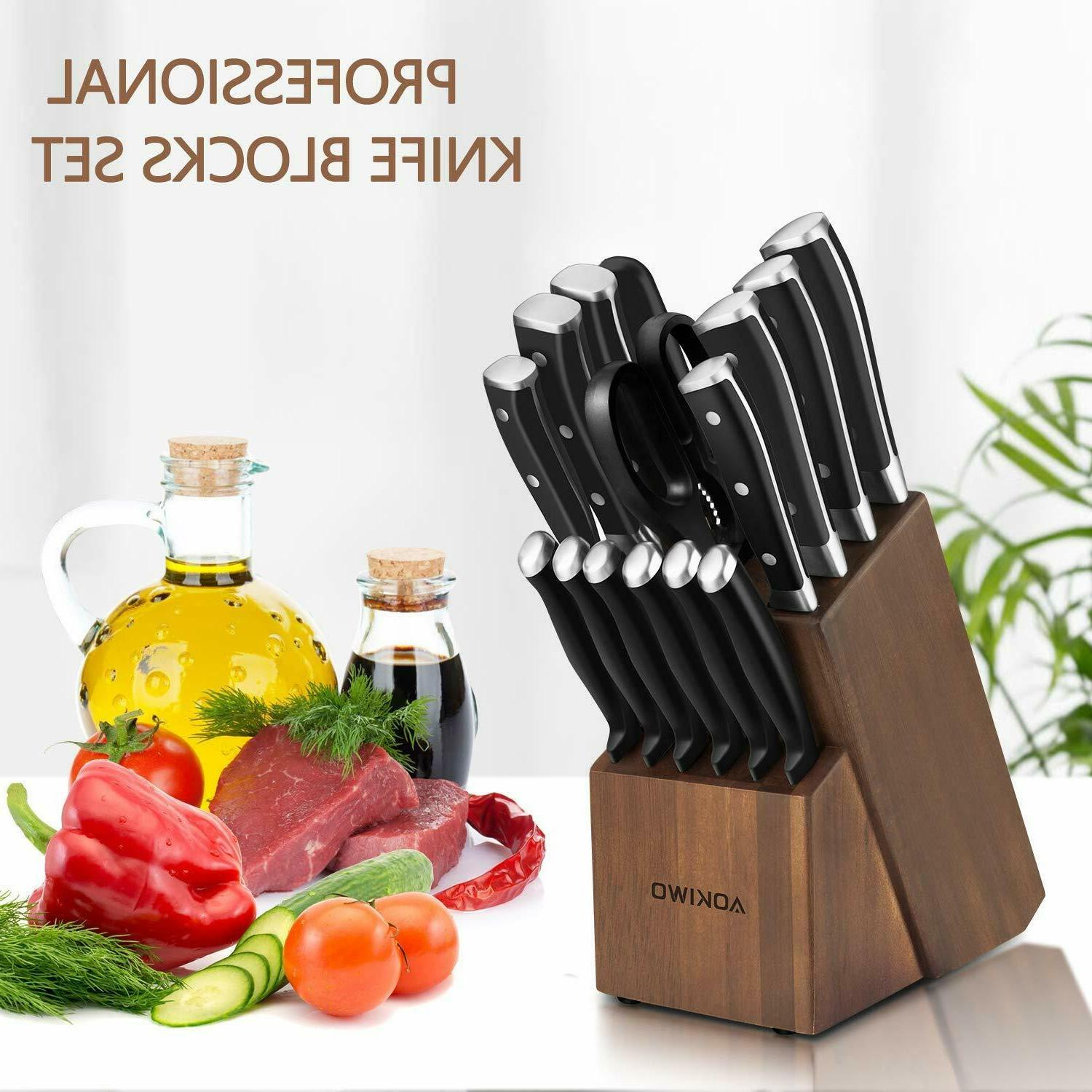 Knife Set with Wooden