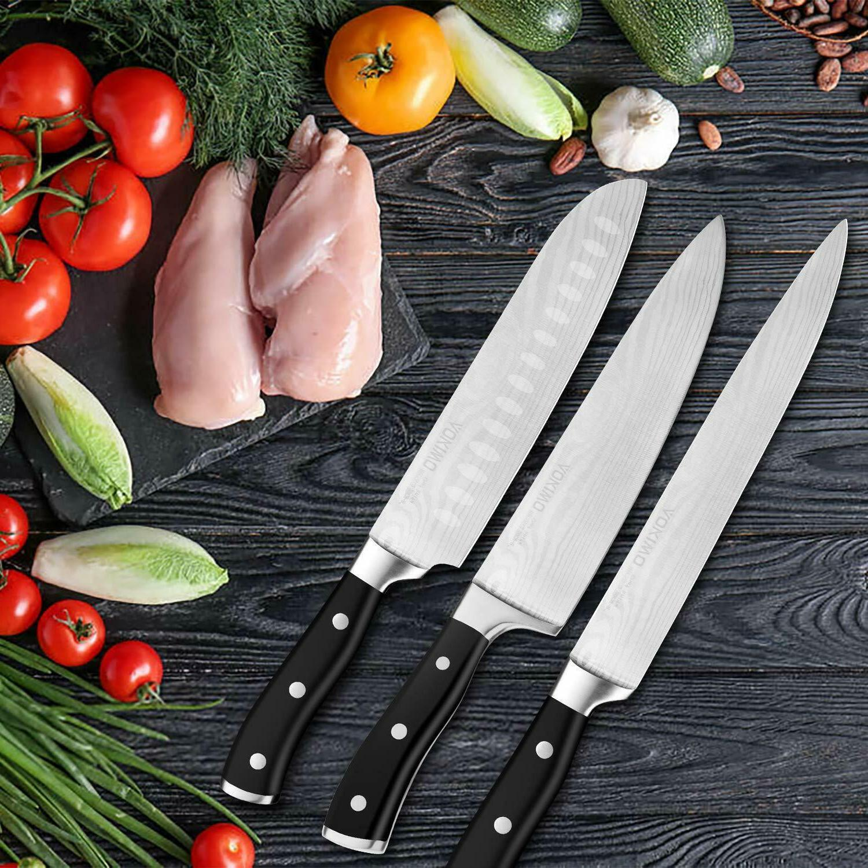 Knife Set, Knife Block Wooden German Stainless