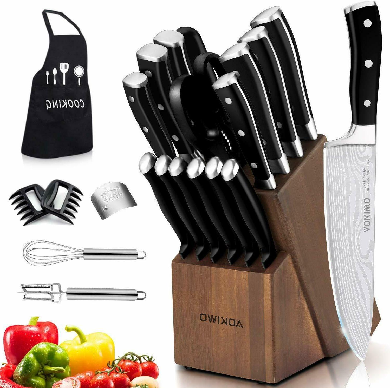 knife set 21 piece kitchen knife set