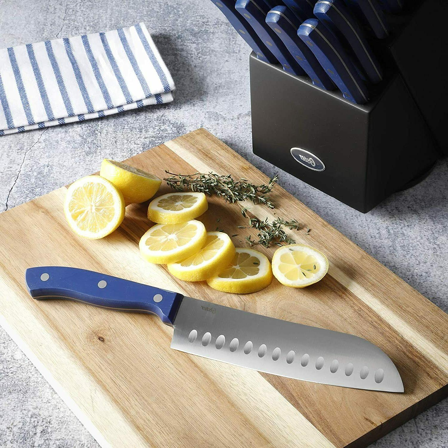 Knife Knife with Block Wooden Stainless Steel