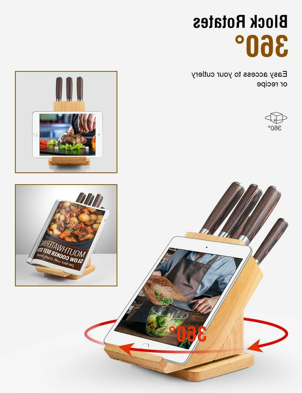 Deik Knife Set 6-Piece High Stainless with Pakka Wood