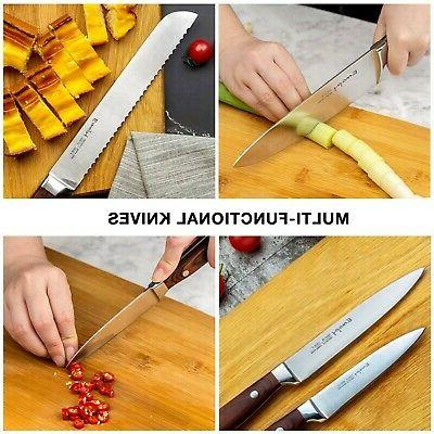 Emojoy Set, Piece Kitchen with Wooden, Knife Set...