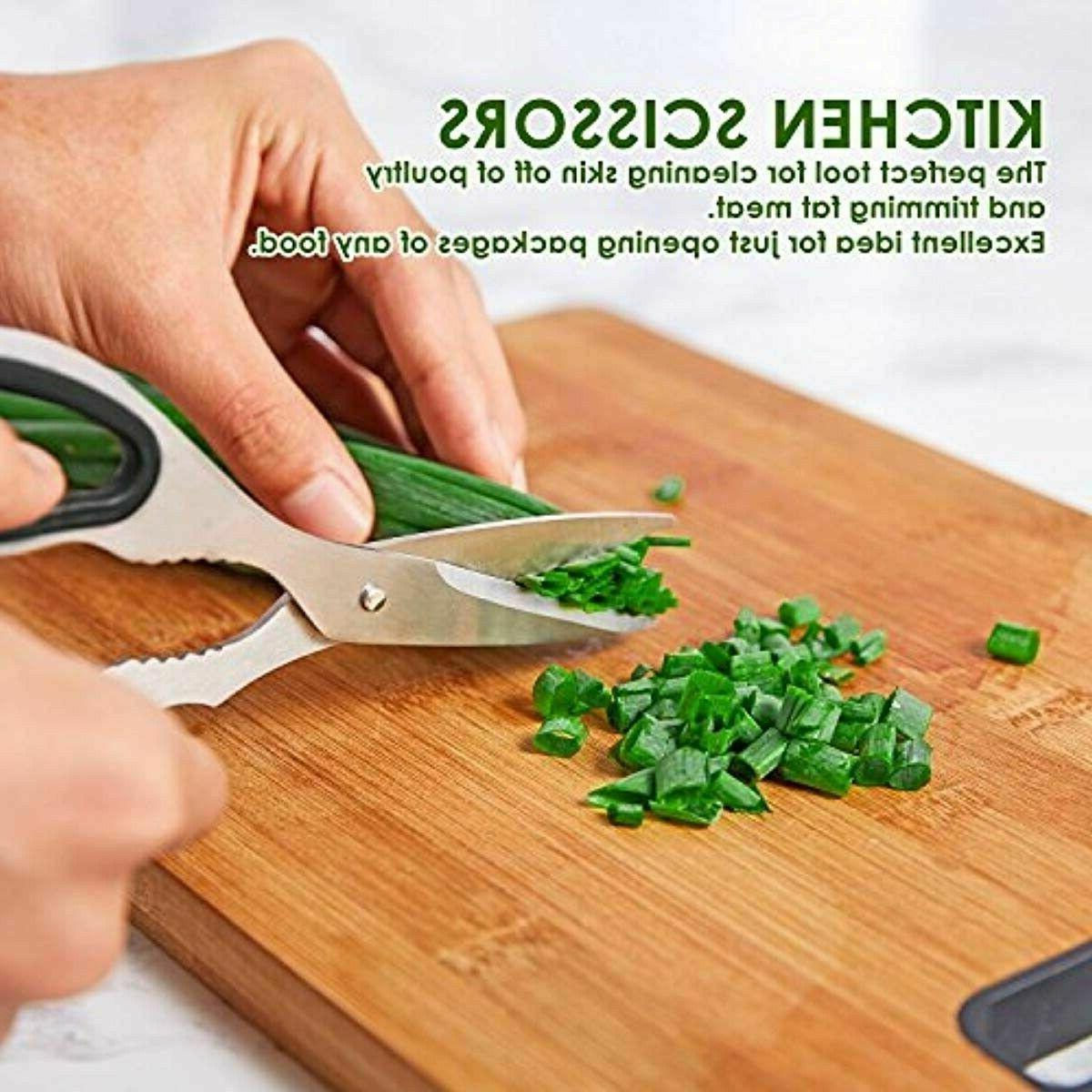 DEIK Set High Carbon Steel Kitchen Knife Super Sharp