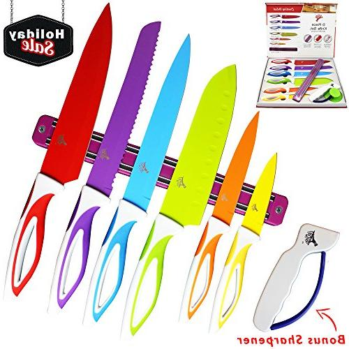 Colorful Kitchen Knife Set Sharp Cooking Cutting Knives