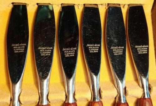 MODE Knife MidCentury Modern Handles Stainless Sheffield