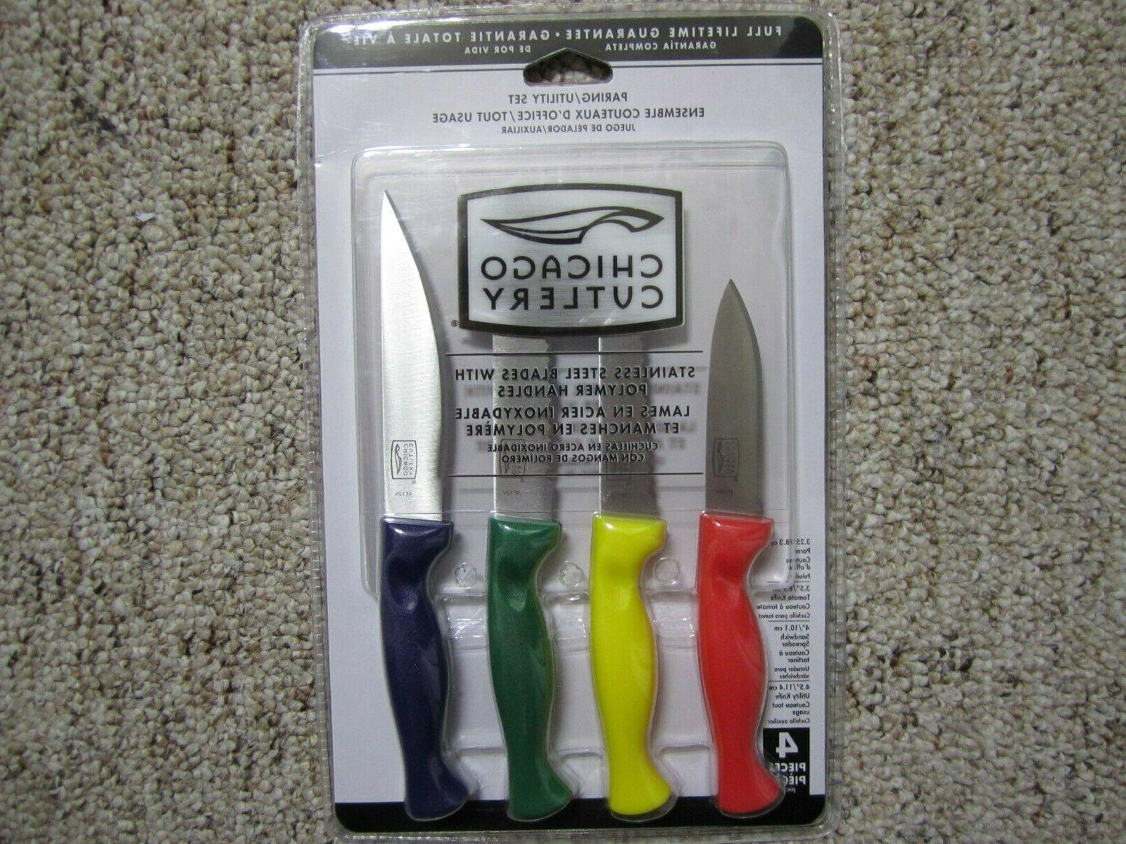 knife set paring utility polymer handles new