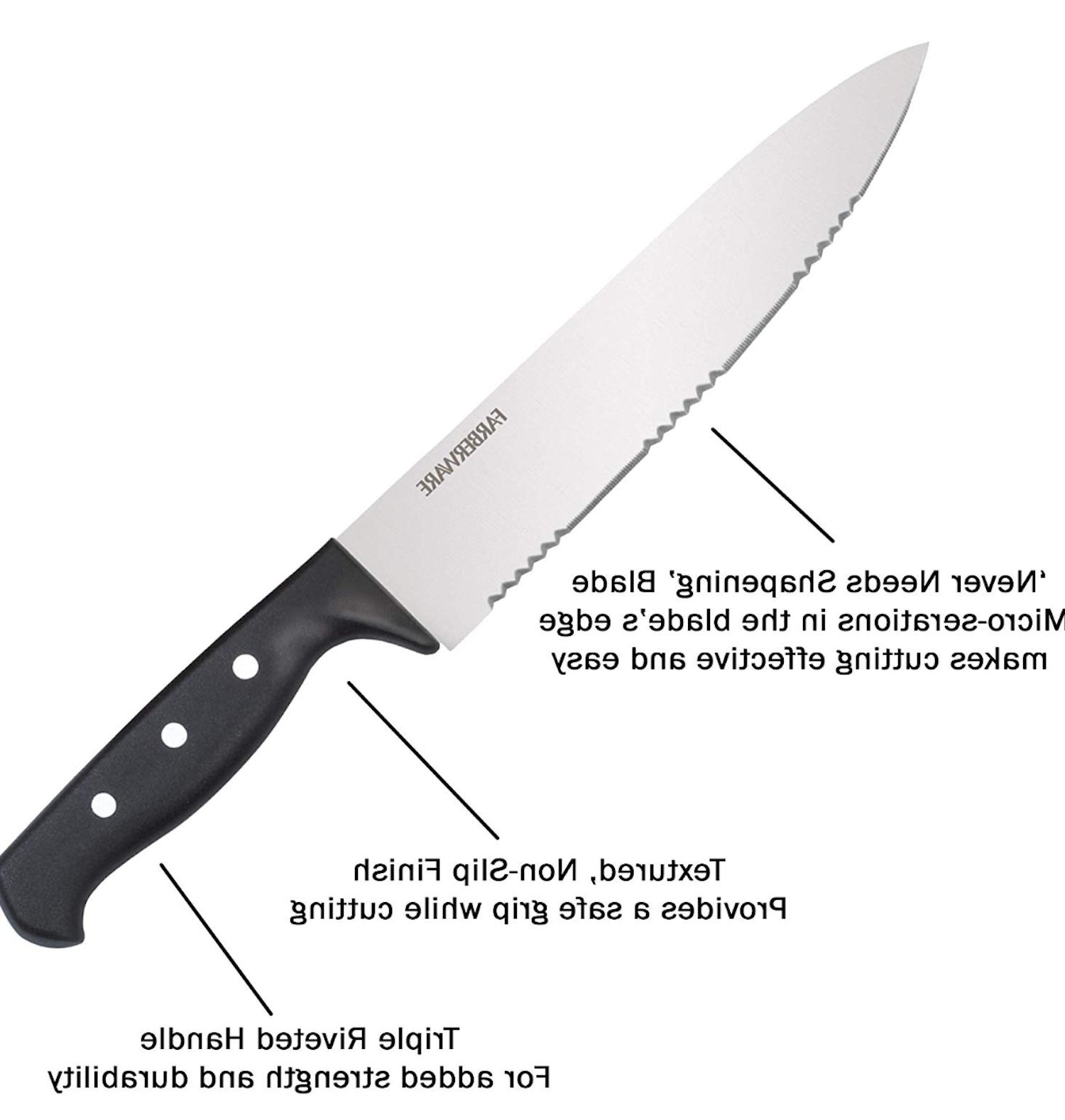 Knife With Kitchen Stainless Sharpening Cutlery