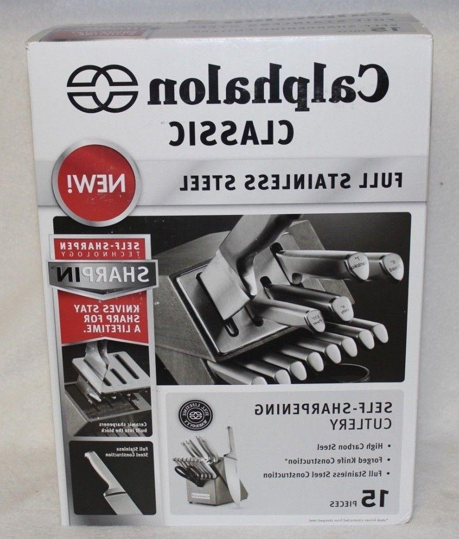 New Calphalon Classic Self-Sharpening Stainless Steel 15-pie