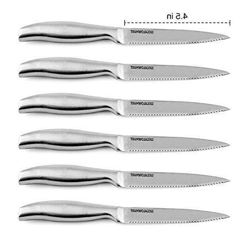 Premium Pieces w/ Acrylic Stand Steak Knives