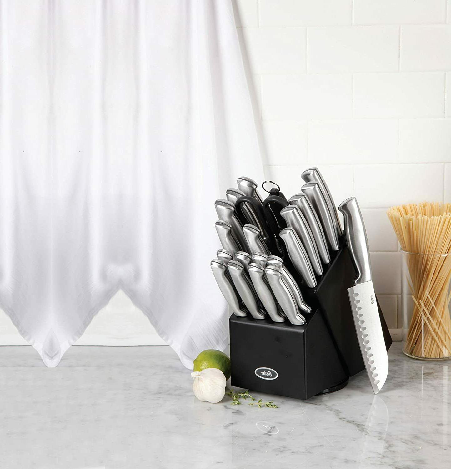 OSTER 22pc STAINLESS KNIVES SET