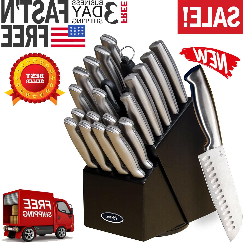 oster baldwyn 22pc kitchen stainless steel cutlery