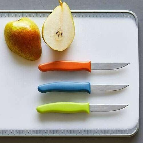 Pampered Paring Knife Set Green, - Dishwasher Safe!