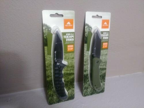 pocket knife set of two 2 black