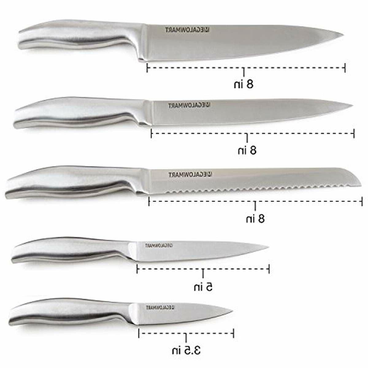 Premium Knife Set Pieces Block w/ Acrylic Knives