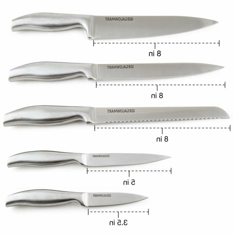 Premium Set Pieces Block w/ Acrylic Steak Knives