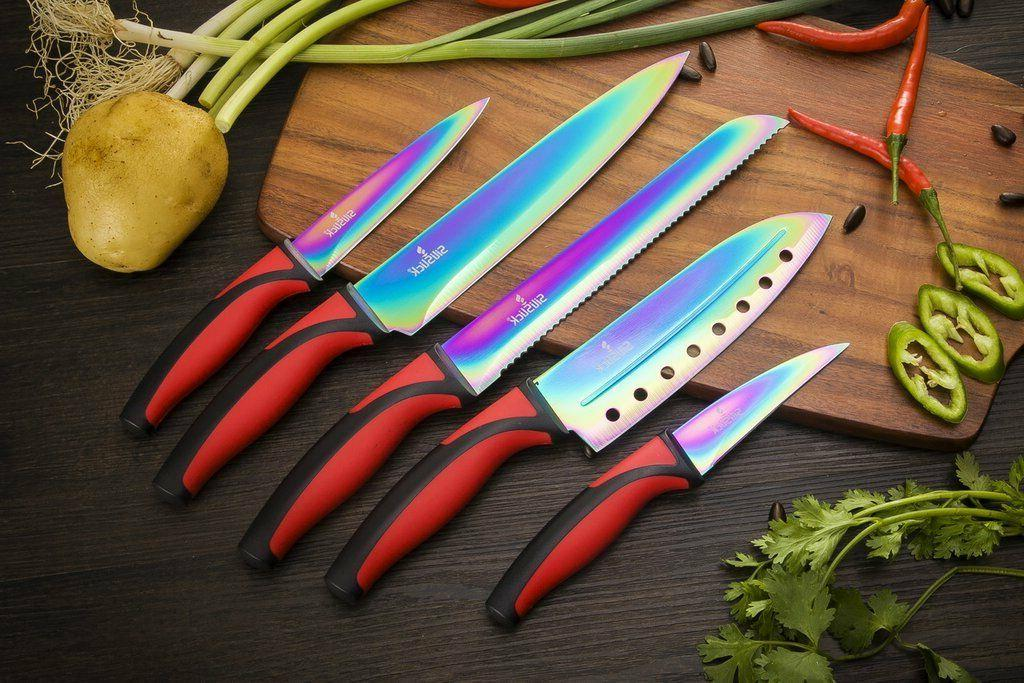 Kitchen Knife Stainless Steel Blades Rainbow 5 Quality Knife