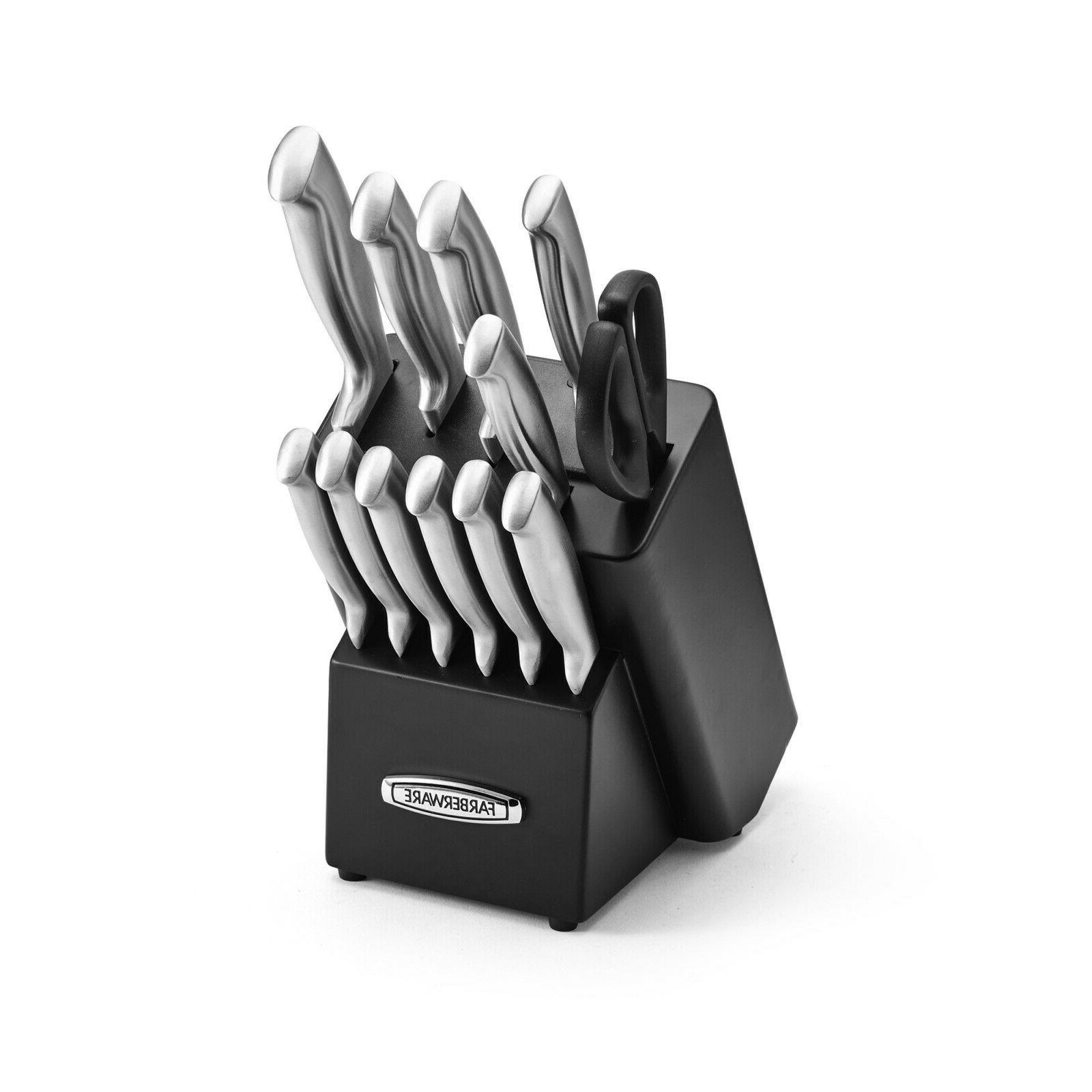 Self Sharpening Knife Set Commercial Kitchen Knives Stainles