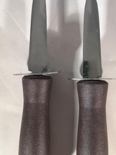 "Set 2 Commercial Grade ""Boston Shucker Knives with Guard"
