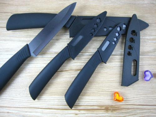 "New Knife Set Black 4"" 5"" 6"" +"