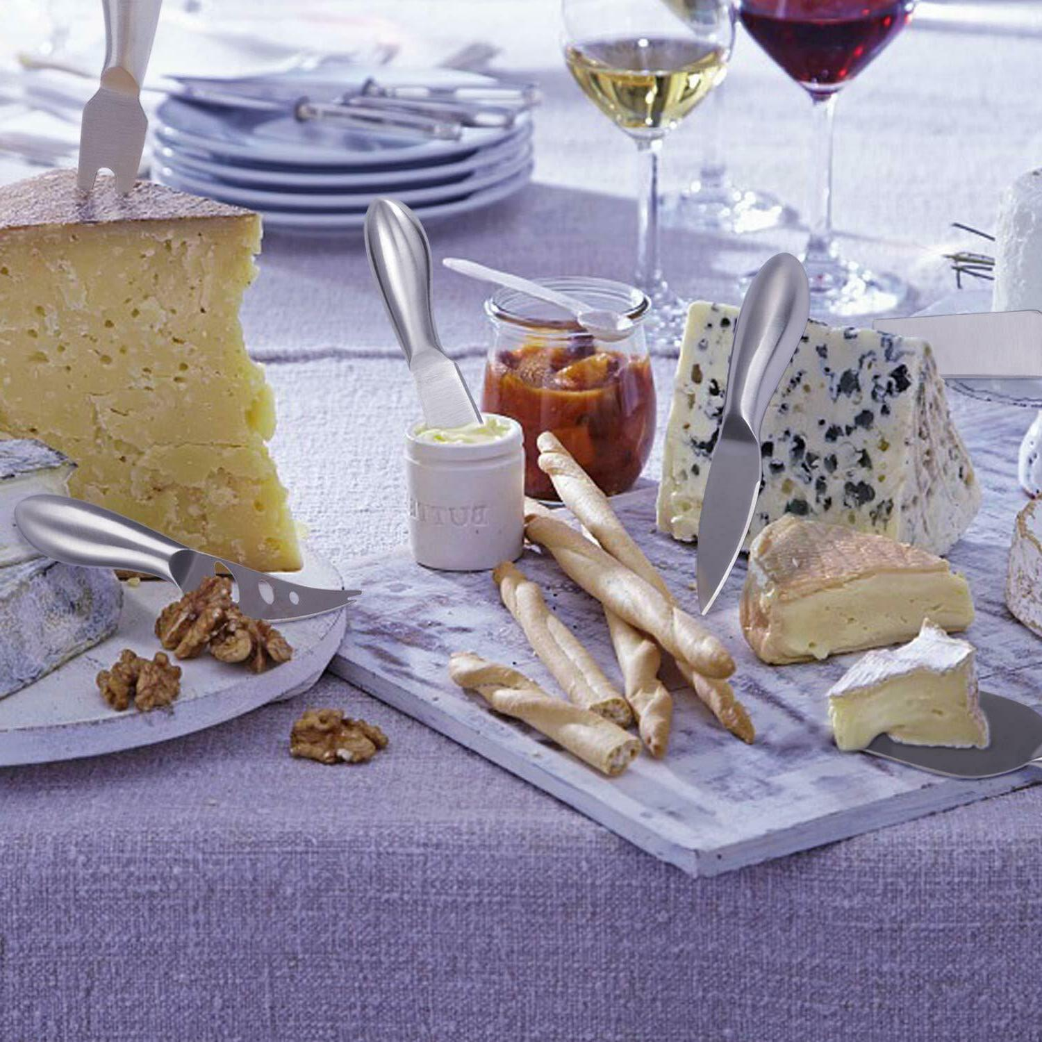 Stainless Steel Cheese Knives Set Perfect Housewarming Gifts