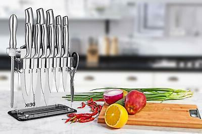 Stainless German Set Kitchen Cutlery With Acrylic Stand