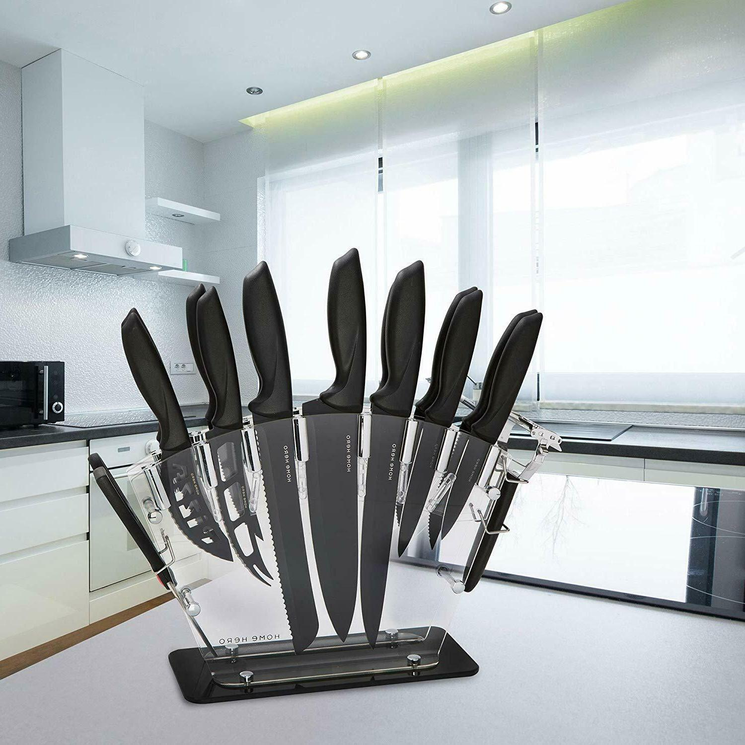 Kitchen Knife Block-13 Stainless Knives Set