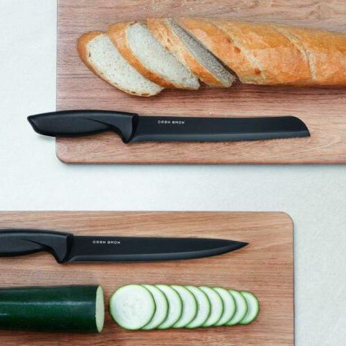 Stainless Knife with Kitchen Knives Sharpener, 6...