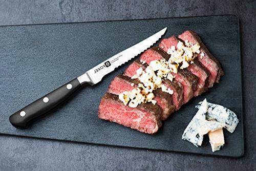 FOXEL of 6 Blade Stylish Full Tang Steak Gift - Not Dishwasher