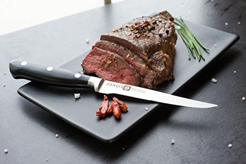FOXEL Steak Knives of - Serrated Blade Tang Steak Knife Gift Box - Not Dishwasher
