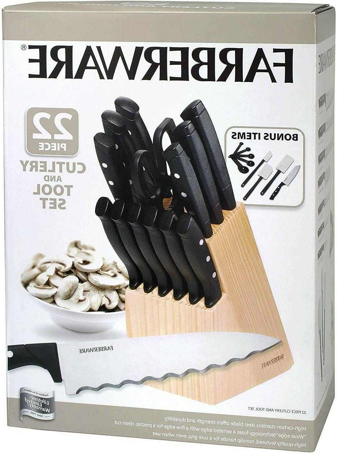 triple rivet gift stainless steel knife block