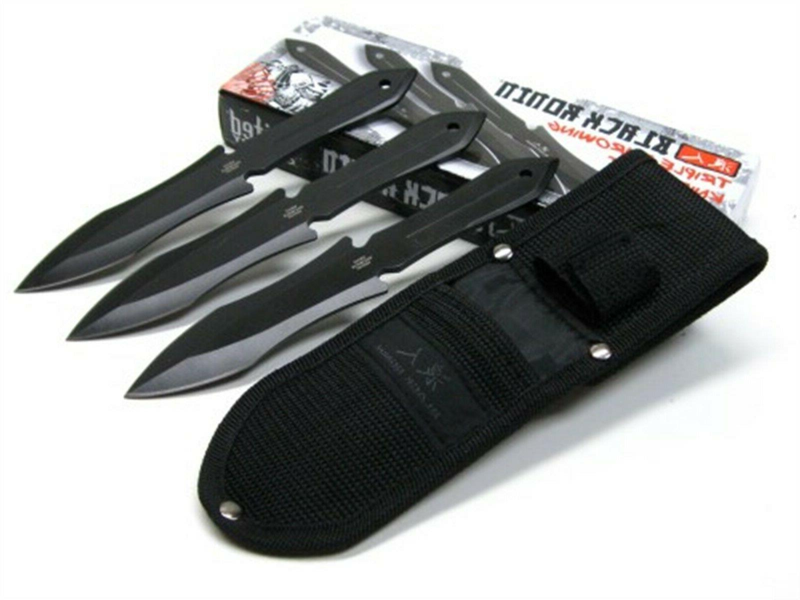 United UC3253 Ronin 3Cr13 Throwing Boot Knife Set Sheath