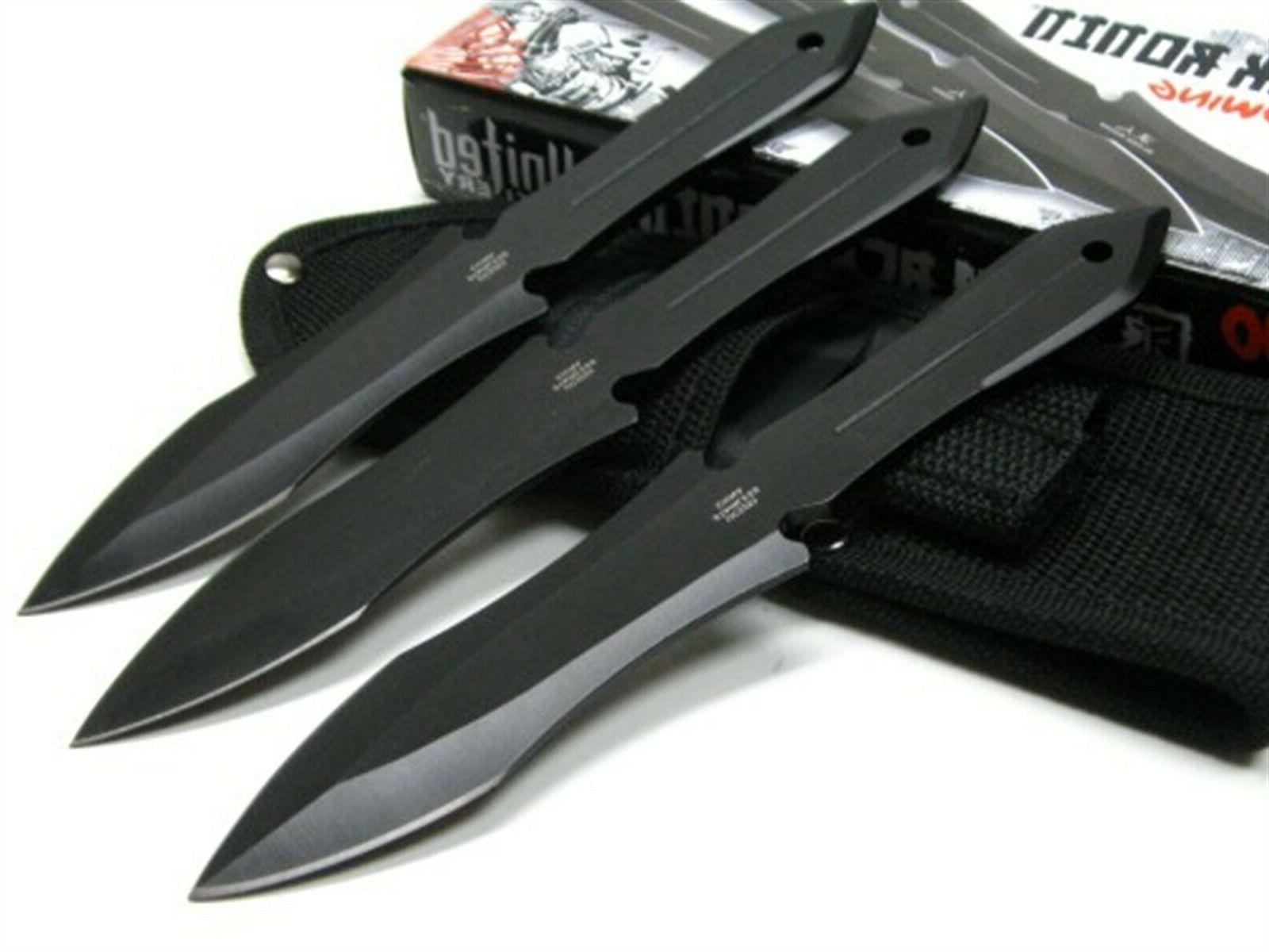 United Ronin 3Cr13 Triple Throwing Boot Knife + Sheath