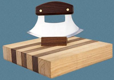 Ulu FACTORY Walnut Plain Handle Ulu Set Made