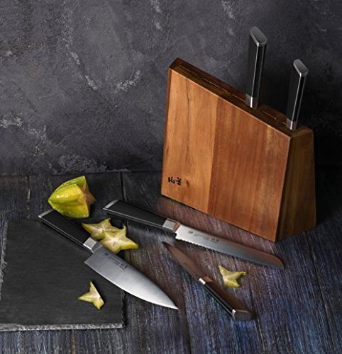 Cangshan Y2 Series 6-Piece German Steel Knife Block Set
